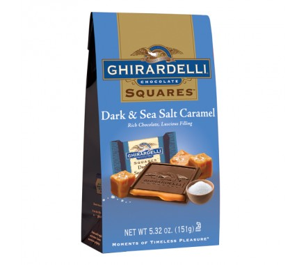 New! Ghirardelli Dark & Sea Salt Caramel Chocolate #A61411