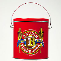 Boudin Red Custom Tin with Handle #A50730