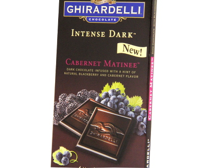 New! Ghirardelli Intense Dark Cabernet Matinee Bar #A61417