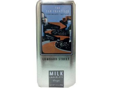 New! San Francisco Milk Chocolate Drops-Lombard St.#A60766