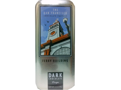 New! San Francisco Dark Chocolate Drops- Ferry Building #A60767