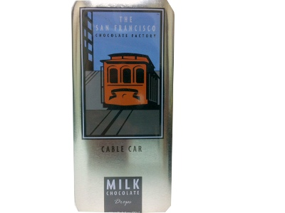 New! San Francisco Milk Chocolate Drops- Cable Car #A60610