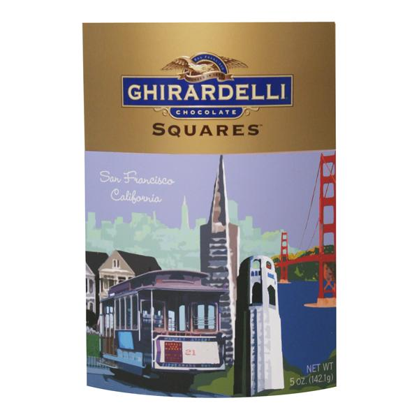 New!! Ghirardelli San Francisco Squares Chocolate Gift Box #A61276