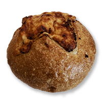 New!! Boudin Sourdough Volcano Garlic Asiago Cheese Bread (2) #899