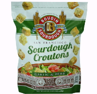 New! San Francisco Sourdough Croutons-Garlic & Herb. #A07022