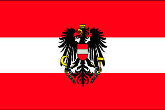 Austria Flag with eagle