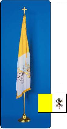 <big>Deluxe Papal Flagpole/Flag Sets</font></big>