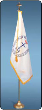 <big>Deluxe United Church of Christ  Flagpole/Flag Sets</font></big>