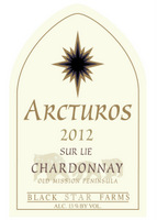 2012 Arcturos Sur Lie Chardonnay white wine label