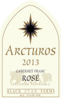 Arcturos Cabernet Franc Rose red wine label