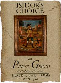 2011 Isidor's Choice Pinot Grigio white wine