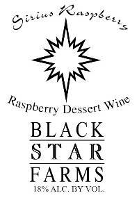 Sirius Raspberry dessert wine label