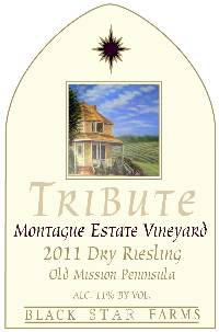 2011 Tribute Riesling white wine label