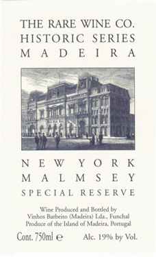 RWC New York Malmsey Madiera