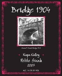 2010 Bridge 1904 Petite Sirah from Vincent Arroyo