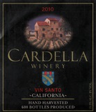 2010 Cardella Winery Vin Santo (375ML) THUMBNAIL