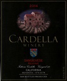 2014 Cardella Winery Sangiovese - Reserve