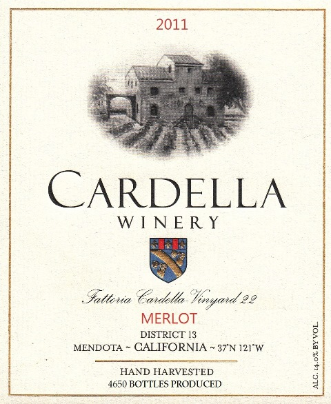2011 Cardella Winery Merlot