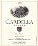 2011 Cardella Winery Pinot Noir