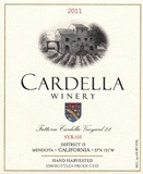 2011 Cardella Winery Syrah
