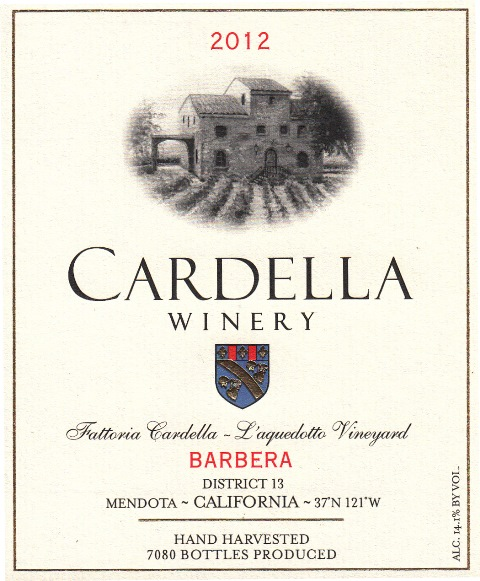 2012 Cardella Winery Barbera_MAIN