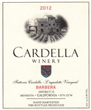 2012 Cardella Winery Barbera