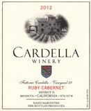 2012 Cardella Winery  Ruby Cabernet