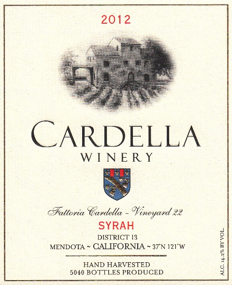 2012 Cardella Winery Syrah