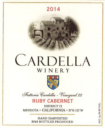 2014 Cardella Winery  Ruby Cabernet THUMBNAIL