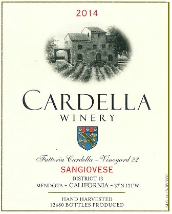 2014 Cardella Winery Sangiovese MAIN
