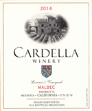 2014 Cardella Winery Malbec