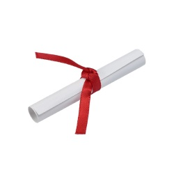 Diploma w/Red Ribbon Layon LARGE