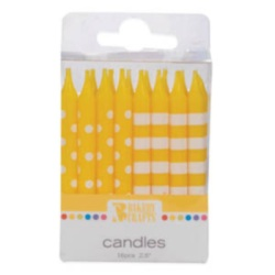 Stripes & Dots Candles - Yellow