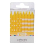 Stripes & Dots Candles - Yellow THUMBNAIL