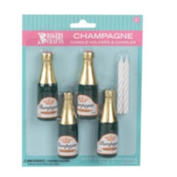 Champagne Bottle Wax Candleholders LARGE