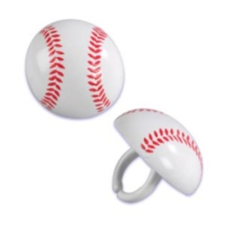 Baseball Rings - 3D LARGE