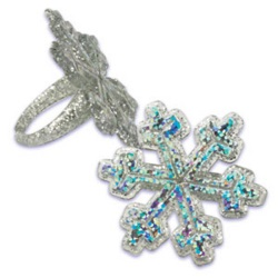 Hologram Snowflake Rings