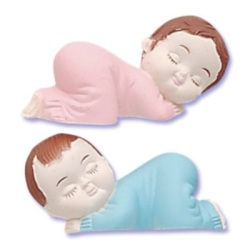 Sleeping Babies - Pink & Blue