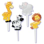 Zoo Animals Puffy Picks
