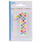 Polka Dot #1 Birthday Candle THUMBNAIL