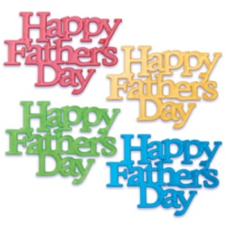 Happy  Father's Day Script Assortment LARGE