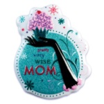 """Mom"" w/Cupcake Cake Top Decoration"
