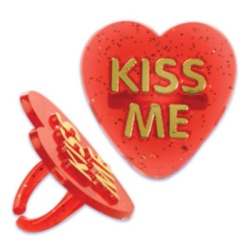"Red ""Kiss Me"" Rings"