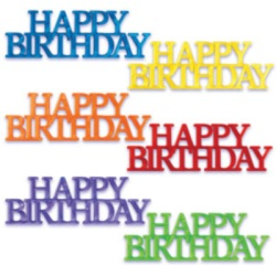Happy Birthday Script Assortment LARGE