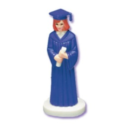 Female Graduate - Royal Blue Robe - African American LARGE