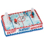 Hockey Players Cake Set w/Goals