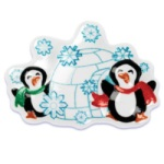 Penguin w/Igloo Cake Top Decoration THUMBNAIL
