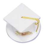 Graduation Hat - White