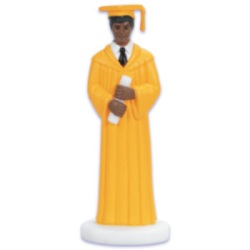 Male Graduate - Gold Robe - African American