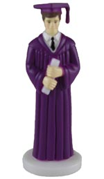 Male Graduate - Purple Robe